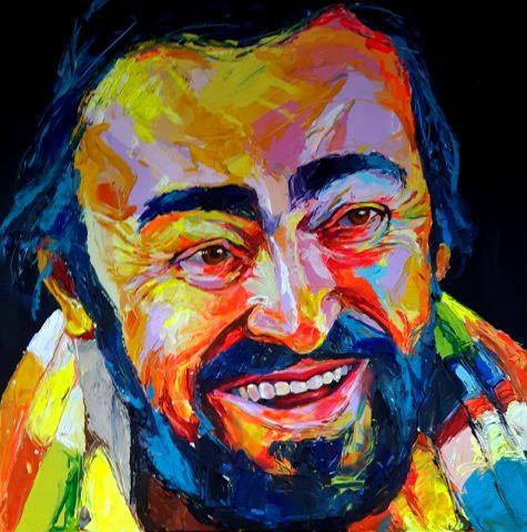Bont Jansson Luciano Pavarotti 100 x 100