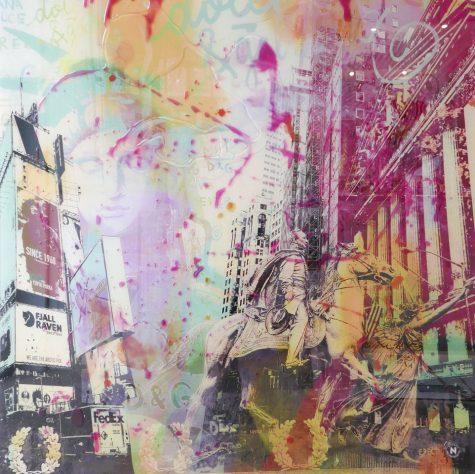 Sleepless City I 130 x 130 by Nathali von K