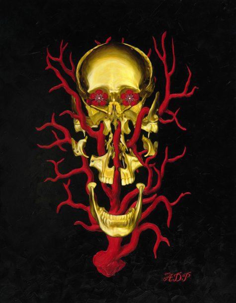 Exploded skull gold